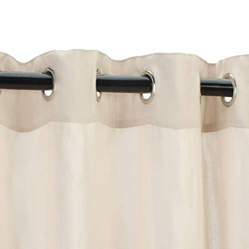 Sunbrella Outdoor Sheer with Nickel Grommets-Illusion Sand 50x96 by Sunbrella (Image #1)