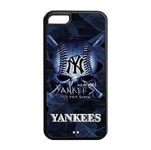 New York Yankees Back Design for iPhone 5C TPU Case-by Allthingsbasketball