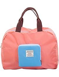 Travel Duffel Bag Waterproof Lightweight Foldable Large Capacity Luggage Bag Tote Handbag Carry on Storage Bag (Pink)