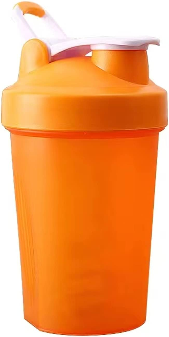 Perfect Shaker Bottle, Classic Protein Shaker Bottle, Action rod Mixing, Dishwasher Safe, Leak Proof-Blender Shaker Bottle with Classic Loop Top& Stainless Whisk Ball-16oz (Orange)