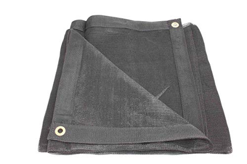 10' x 12' Black 70% Shade Mesh Tarps with Grommets ROLL-Off