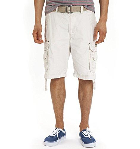 Unionbay Flat Front Shorts (Union Bay Men's Cargo Flat-Front Short (38 x 11, Stone))