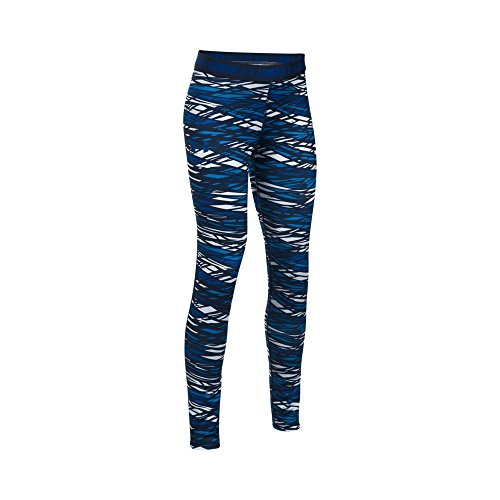 Under Armour Girls' HeatGear Armour Printed Leggings,Lapis Blue/Lapis Blue, Youth Small by Under Armour