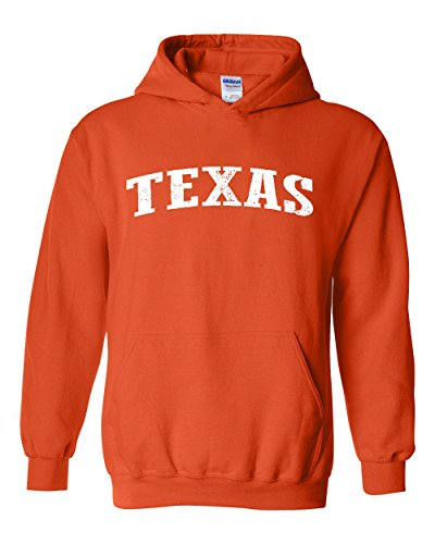 Ugo TX Texas Flag Houston Map Longhorns Bobcats Home Texas State University Unisex Hoodie Sweatshirt (Texas Longhorns Pullover)