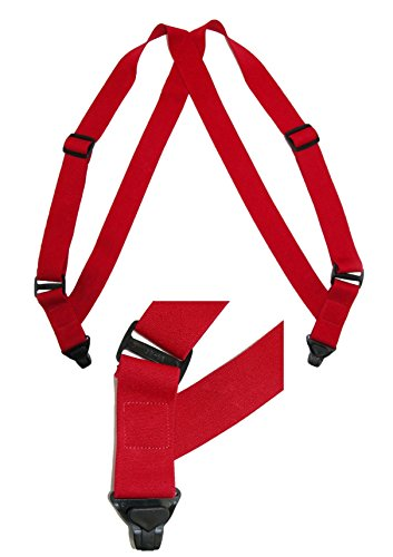 CTM Men's Elastic Side Plastic Clip TSA Compliant Airport Suspenders, Black by CTM (Image #3)