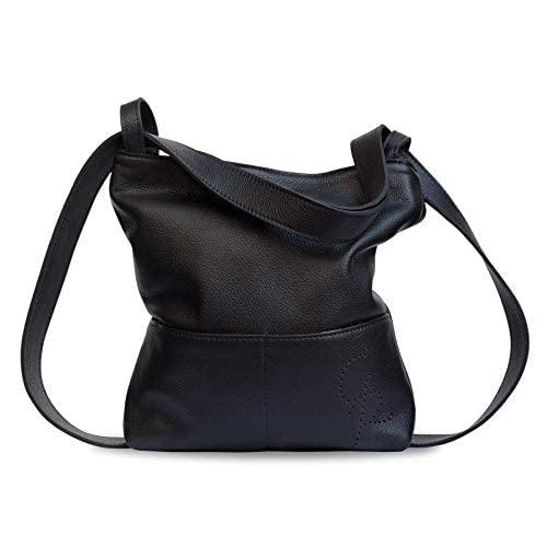 Bolso mochila cuero negro unisex artesanía: Amazon.es: Handmade