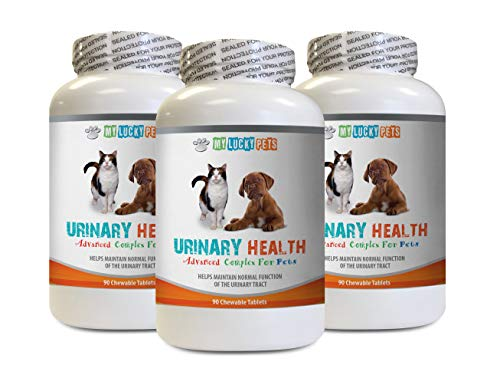 Dog Urinary Tract Support - Pets Urinary Health Complex - for Dogs and Cats - Advanced Bladder Support - Dog Cranberry Pills - 3 Bottles (270 Treats)