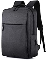 15.6 inch laptop backpack with charging hole -