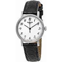 Everytime T109.210.16.032.00 White/Black Leather Analog Quartz Women's Watch