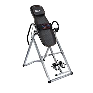GENKI Heavy Duty Folding Inversion Table with Massage Belt, 4 Position Adjustable Gravity Inversion Machine
