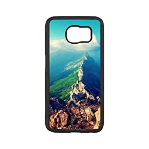 Diy Beautiful Landscapes Nature Custom Cover Phone Case for samsung galaxy s6 Black Shell Phone [Pattern-5]
