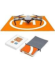 Hensych RC Drone Landing Pad Waterdichte PU Draagbare Opvouwbare Landing Mat voor Mavic Air 2S/Mavic Mini 2/Mavic Pro/Spark, met Draagtas, Dubbelzijdig Kleur Ontwerp