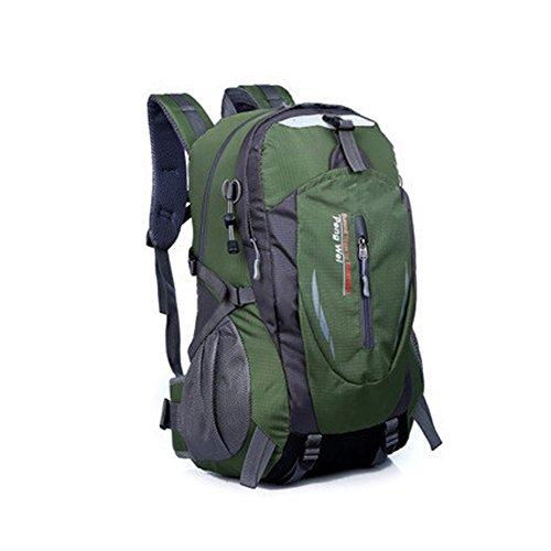Sport Im Freien Rucksack Camping Wandern Bergsteigen Taschen 40L Armee-Grün