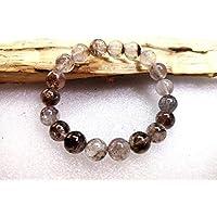 Gioiello perle bella gioielli di qualità AAA + + Smooth SUPER7Beads 10x 10mm Roundel cabochon pietra preziosa gemma/Melody, Sacred Seven lunghezza–17,8cm code- uka-10385