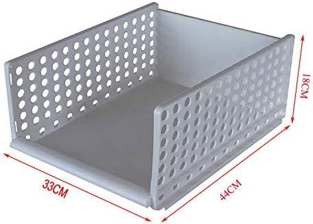 Organizador de Almacenamiento de Armario de plástico Grande, Caja de Almacenamiento de Armario de plástico apilable Caja de Organizador de Armario Adecuada(2pcs),33 * 44 * 18cm: Amazon.es: Hogar