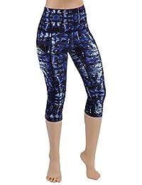 ac17649052771 High Waist Out Pocket Printed Yoga Pants Tummy Control Workout Running 4  Way Stretch Yoga Leggings