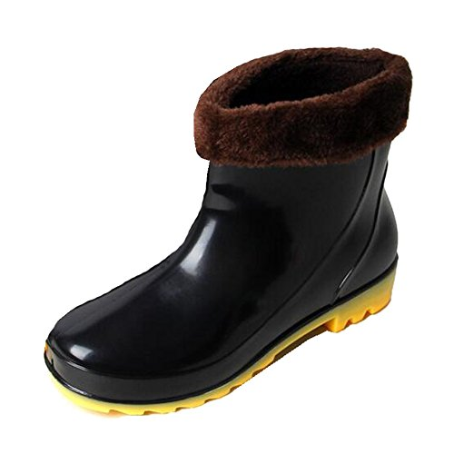 Wellington Women With Men Lining Boots Unisex Wellies Rubber Ankle Black Detachable Hattie IUqZx