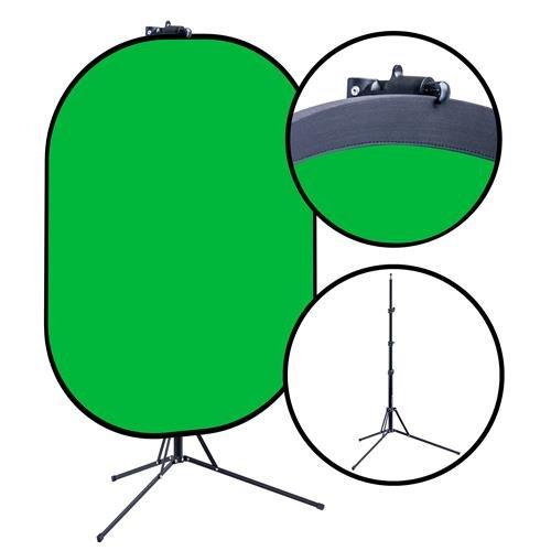 Belle Drape 60x72 Reversible Chroma Blue & Green Background Kit