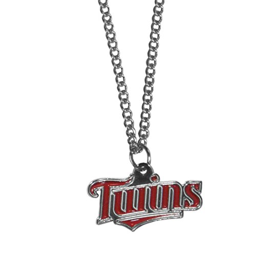 Siskiyou MLB Minnesota Twins Women's Chain Necklace with Small Pendant, 20