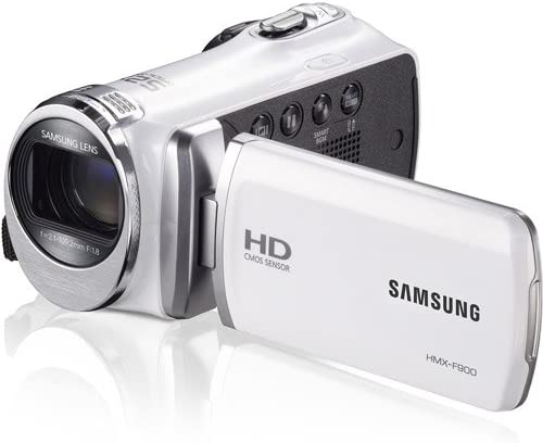 "Samsung F90 White Camcorder with 2.7"" LCD Screen and HD Video Recording (Renewed)"