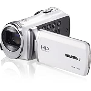 """Samsung F90 White Camcorder with 2.7"""" LCD Screen and HD Video Recording (Certified Refurbished)"""