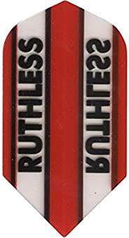 3 Sets (9 Flights) Xtra Tough (100 Micron) Ruthless Red Slim Dart Flights