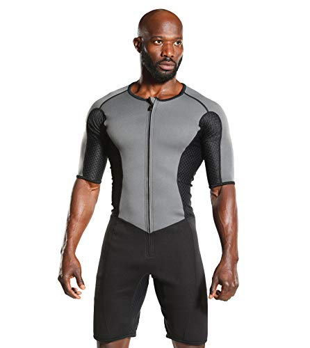 Kutting Weight Sauna Suit - Body Toning Clothing - Fat Burner Short Sleeve Sauna Suit (Sauna Suit Title)