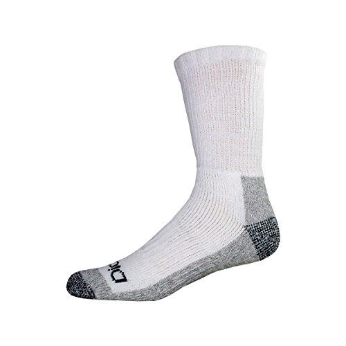 Dickies Men's 2 Pack Steel Toe Crew Socks - Big & Tall, Whit
