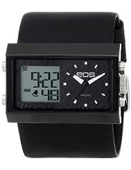 EOS New York Unisex 202SBLK Contrast Analog-Digital Watch