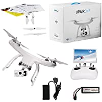 UPair One Drone with 2.7K HD Camera, 5.8G FPV Monitor Transmit Live Video, 2.4G Remote Controller, GPS Auto Return Function, a key to Return 7inch Screen Quadcopter Drone (2.7K)