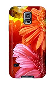 Durable Protector Case Cover With Flower Hot Design For Galaxy S5