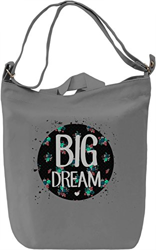 Big Dream Borsa Giornaliera Canvas Canvas Day Bag| 100% Premium Cotton Canvas| DTG Printing|