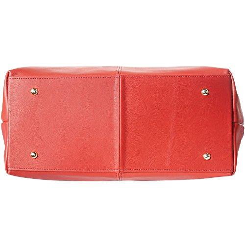 Borsa 3015 Shopping Pelle Rosso Vera Vitello Di In rrqd8wY