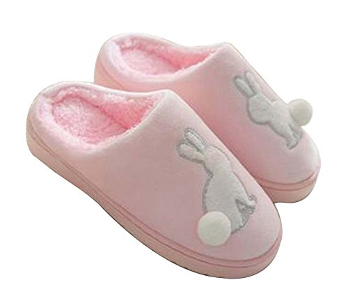 [coniglio Rosa] Donne Pantofole Peluche Dinverno Pantofole Pantofole Sfocate Al Coperto