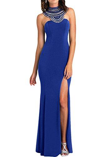 Prodotto sera foreverde kraftool Blu Royal dell'abito alta da un'ampia vestito donna di Bete Chiffon Ivydressing qualità Rueckenfrei r0grq86w