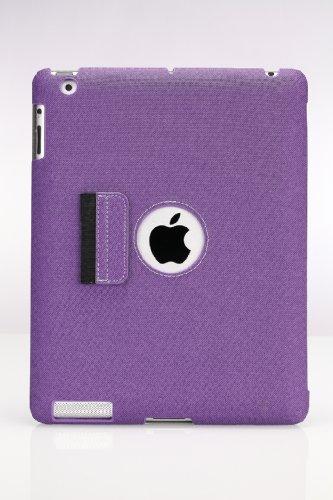 MoKo(TM) Slim Case for the New iPad 3 / iPad 4 / iPad HD / iPad 2 with Smart Cover Auto Wake/Sleep, Purple