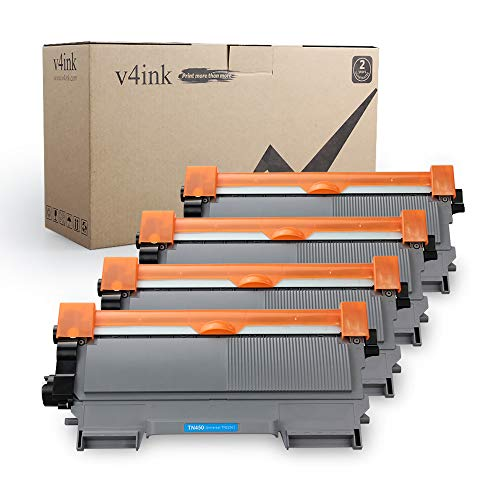 v4ink Compatible Toner Cartridge Replacement for Brother TN450 TN420 Black Toner Cartridge High Yield to use for HL-2240d HL-2270dw HL-2280dw MFC-7360n MFC-7860dw IntelliFax 2840 2940 Printer 4 Pack