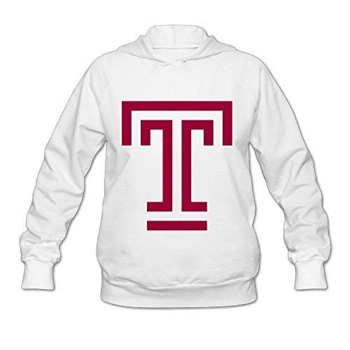 [Wesley Temple University T Logo Wen's Soft Pullover Hood White XXL] (Breaking Bad Jesse Costumes)