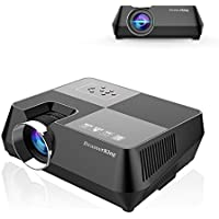 BeamerKing Video Projector, 1800 Lumens Portable LED Home Theater Projector Support Full HD 1080P HDMI USB VGA AV for Laptop iPhone Andriod Smartphone PS4 Xbox TV Box