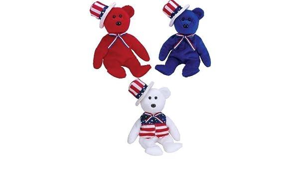 Amazon.com  TY Beanie Babies - SAM the Bear (Set of 3 - Red 95f06b047b1