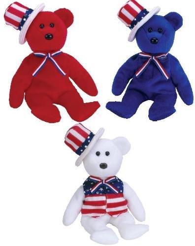 5eca7f7a3c3 Amazon.com  TY Beanie Babies - SAM the Bear (Set of 3 - Red