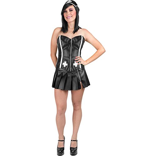 Sexy Gothic Nurse Adult Costume (Size: Medium 8-12) (Sexy Gothic Nurse Costume)