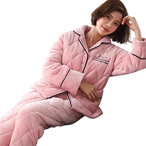 And Can Suit Ladies 58 168cm 162cm Cute Coral M150 Xl162 Velvet 30 Worn Winter Quilted Warm Thick Three Be layer Service Pajamas Home Outside Autumn 50kg 65kg Plus Pajamasx R6077x