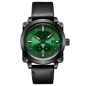 JBW Mens Quartz Watch, Analog Display and Leather Strap J6374A