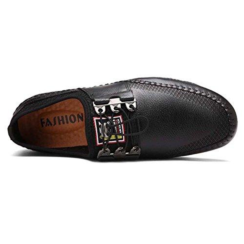 ZXCV Zapatos al aire libre Zapatos transpirables de los hombres ocasionales del cordón Negro