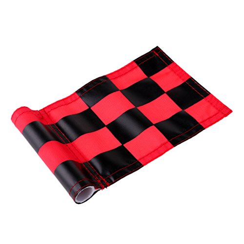 MagiDeal 4pcs 18x12cm Golf Practicing Training Flag Nylon Putting Green Solid Chequered Flags by Unknown (Image #2)