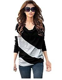 Comvison Autumn Winter Women Long Sleeve Blouse Shirt Loose T-Shirt Tops