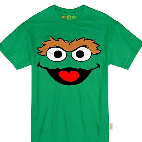 Green Puppet Oscar Halloween Grouch Monster Costume Kids Adult Tshirt