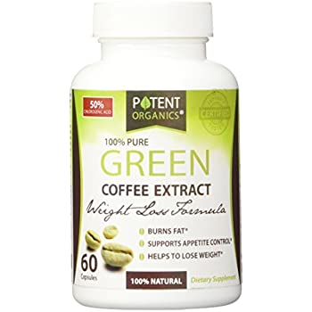 NEW!!! 100% Pure Organic Green Coffee Bean Weight Loss Formula with WGCP ★ Chlorogenic Acid ★ 60 Count ★ Dr Oz Recommended - Fat Burner - Natural Weight Loss Supplement - Best Premium Quality