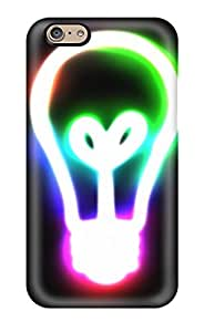 Iphone 6 Colourful Light Bulb Tpu Silicone Gel Case Cover. Fits Iphone 6 by ruishername
